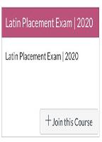 Latin Placement Exams